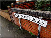 SO5140 : Robin's Terrace name sign, Hereford by Jaggery