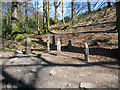 """SD3394 : """"Waymarkers"""", Grizedale Forest sculpture by Kate Jewell"""