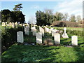 TG0117 : Commonwealth War Graves enclosure by Adrian S Pye