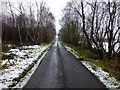 H4871 : Wintry along Woodbank Road by Kenneth  Allen