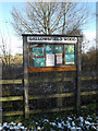 TM0261 : Gallowsfield Wood sign by Adrian Cable