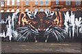 NS5864 : Mural artwork by the Clyde Walkway, Glasgow by Jim Barton
