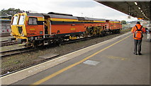 SX9193 : Orange view on the west side of Exeter St Davids Station by Jaggery