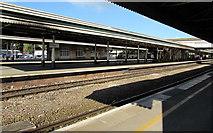 SX9193 : Middle platforms on Exeter St Davids station by Jaggery