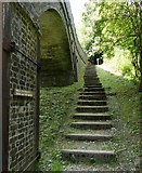 SK1750 : Steps next to the Tissington Trail by Mat Fascione