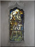 TQ5203 : St Andrew, Alfriston: stained glass window (iv) by Basher Eyre