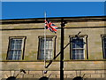 H4572 : Flying the Union Flag, Omagh Courthouse by Kenneth  Allen