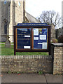 TL2111 : St.John's Church Notice Board by Adrian Cable