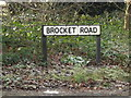 TL2111 : Brocket Road sign by Adrian Cable