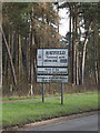 TL2112 : Hatfield Town Name sign on the B653 Marford Road by Adrian Cable