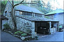 SH7972 : Toilet and tearoom in the Dell by Richard Hoare