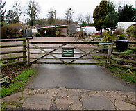 SO7542 : Entrance gate to the Picton Gardens & Old Court Nurseries, Colwall by Jaggery