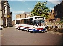 NY4055 : Rail link bus outside Carlisle Citadel station by Richard Vince