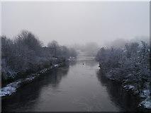 NZ0416 : Misty Morning In Barnard Castle by James T M Towill