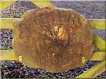 SJ5799 : Skitters Wood Sign by David Dixon