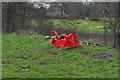 SU9960 : Grass cutter, Bourne Meadows by Alan Hunt