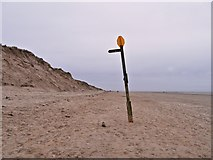 SD2707 : Access Marker and Signpost for Blundell Path, Formby Beach by David Dixon