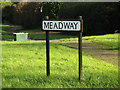 TL1513 : Meadway sign by Geographer