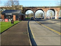 SO8455 : Railway viaduct, Grand Stand Road by Philip Halling