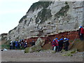 TF6742 : Studying the cliffs at Old Hunstanton by Richard Humphrey