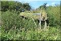 NS3255 : Remains of a trough, Lochwinnoch Loop by Richard Webb