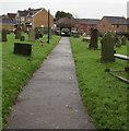 ST4587 : Churchyard path, Rogiet by Jaggery