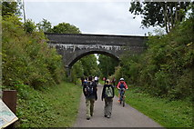 SK1971 : Access bridge over the Monsal Trail by N Chadwick