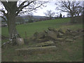 SD5669 : Stone blocks and gateposts, Eskrigge by Karl and Ali