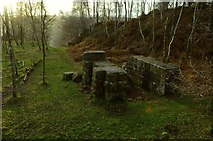 SK2479 : Old Winding Gear Housing at Bole Hill Quarry, Derbyshire by Andrew Tryon