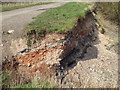 SK0307 : Made-up ground exposed by erosion of lake shore, Chasewater near Brownhills by Robin Stott