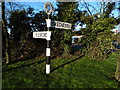 TF2438 : Old signpost in a roundabout by Ian Paterson