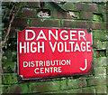 TG2713 : Danger High Voltage (sign) by Evelyn Simak