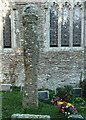 SW8543 : Cross in the churchyard, St Clement's by Humphrey Bolton