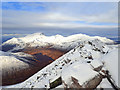 NN2166 : View of Ben Nevis from Binnein Mór by Mick Garratt