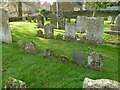 SK8613 : Church of St Mary, Ashwell - old gravestones by Alan Murray-Rust