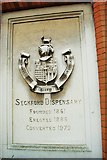 TM2649 : Plaque on the Seckford Dispensary by Tiger