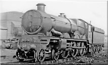 TQ2182 : Ex-GWR 'Castle' at Old Oak Common, 1948 by Ben Brooksbank