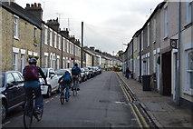 TL4658 : Cyclists on Gwydir St by N Chadwick