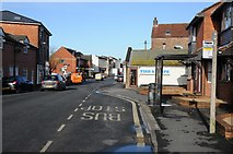 SO8005 : Bus stop in Stonehouse by Philip Halling