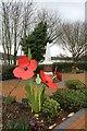 SH7667 : Dolgarrog War Memorial garden by Richard Hoare