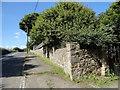 NZ1452 : Garden wall at Pontop High Stables by Robert Graham