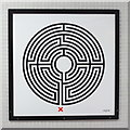 TQ3083 : King's Cross St. Pancras tube station - Labyrinth 172 by Mike Quinn