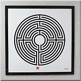 TQ3083 : King's Cross St. Pancras tube station - Labyrinth 172 by Mike Quinn