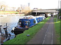 TQ1677 : Penny, narrowboat on Grand Union Canal winter moorings by David Hawgood