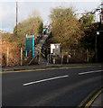 ST1880 : Entrance path to Heath High Level railway station platform 2, Cardiff by Jaggery