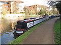 TQ1777 : Fair Rosamund, narrowboat on Grand Union Canal winter moorings by David Hawgood