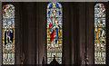 TF0836 : East window, St Peter's church, Threekingham by Julian P Guffogg