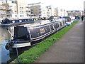 TQ1777 : Bobbie Dazzler, narrowboat moored in Brentford Dock basin by David Hawgood