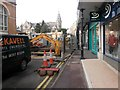 SZ0891 : Bournemouth: Albert Road is currently closed by Chris Downer