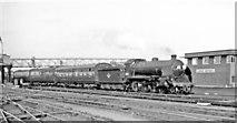 TQ2775 : Waterloo - Basingstoke train at Clapham Junction, 1962 by Ben Brooksbank